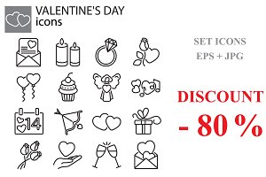 Web icons set - Valentine's Day