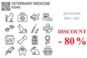 Web icons set - Veterinary medicine
