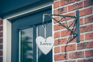 Decorative heart hanging on the