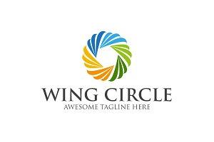 Wing Circle Template Logo