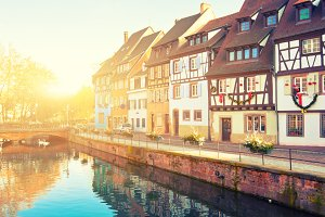 Medieval houses in Colmar, France