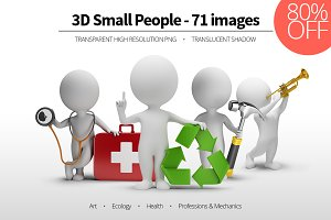 3D Small People - Set 03