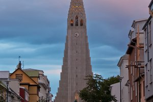 View of Hallgrimskirkja church in