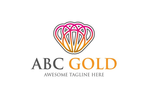 ABC Gold Template Logo