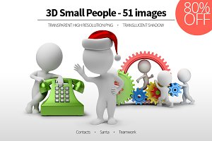 3D Small People - Set 07