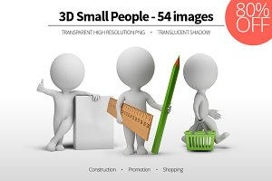 3D Small People - Set 08