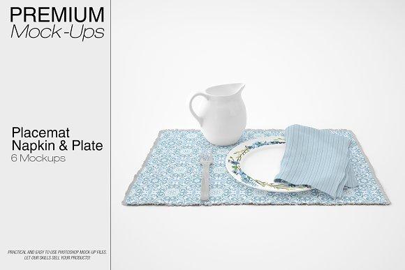 Placemat Plate Napkin Set