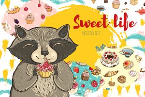Sweet life: bakery vector set