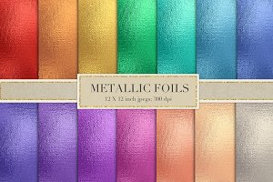 Colorful metallic foil textures