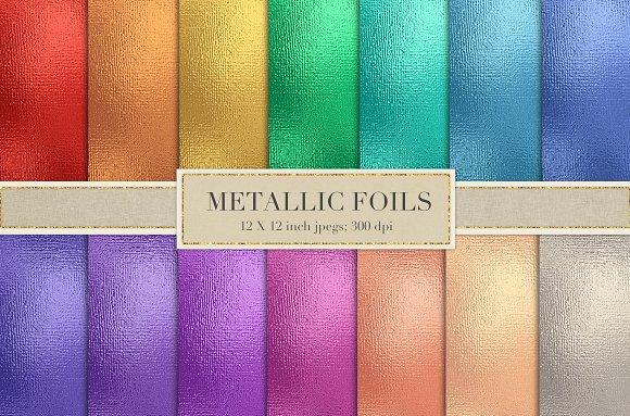 Colorful Metallic Foil Textures