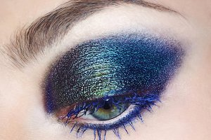 Eye make-up cosmetic macro photo