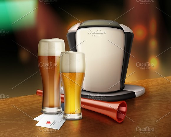 Accessories Of Fan With Beer