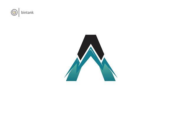 Mountain A Letter Logo