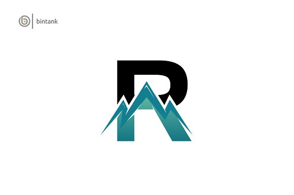 Mountain Letter R Logo