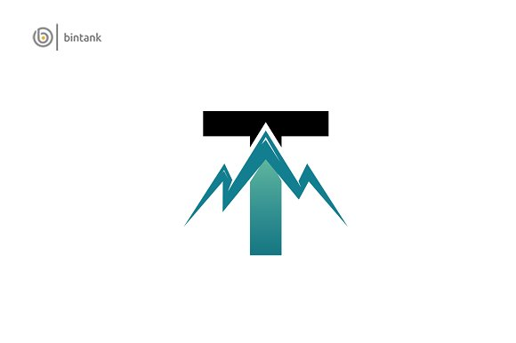 Mountain T Letter Logo