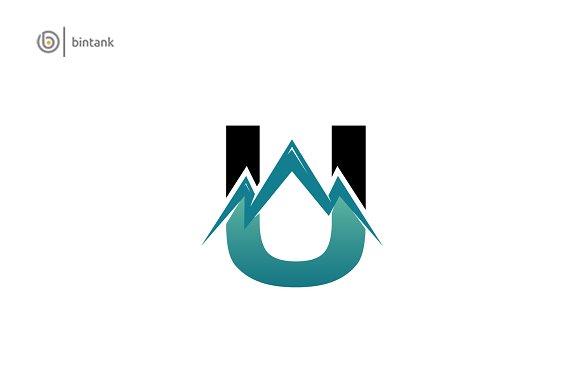 Letter U Logo Mountain