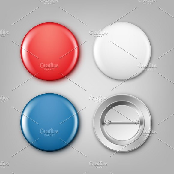 Blank Colored Badges