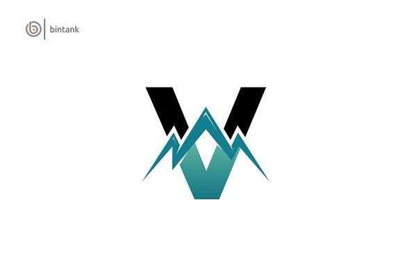 Mountain V Letter Logo