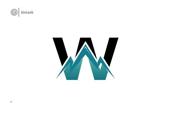 Mountain W Letter Logo