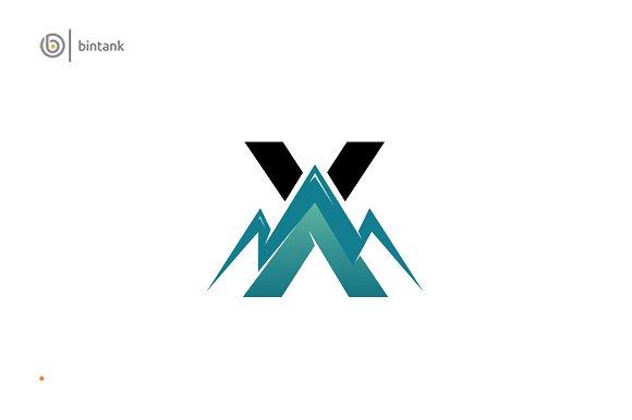 Mountain X Letter Logo