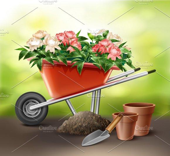 Wheelbarrow Full Of Flowers