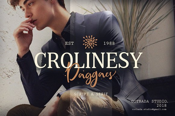 Crolinesy Daggaes Font Duo  in Script Fonts - product preview 1