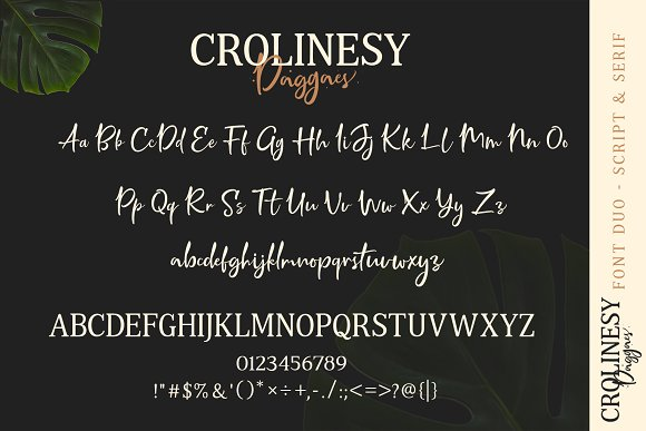 Crolinesy Daggaes Font Duo  in Script Fonts - product preview 6