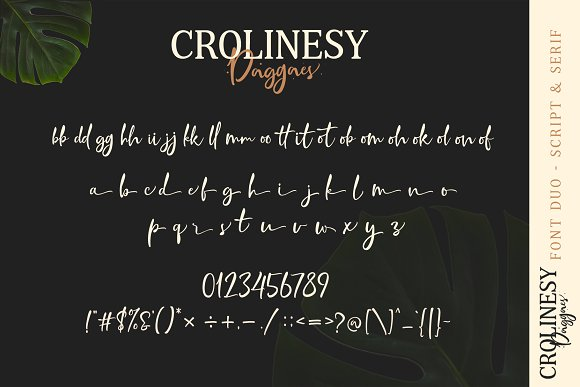 Crolinesy Daggaes Font Duo  in Script Fonts - product preview 7