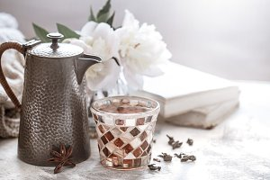 tea ceremony, tea in a glass