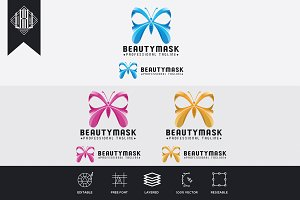 Beauty Mask Modern Logo