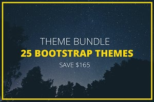 Theme Bundle - 25 Bootstrap Themes