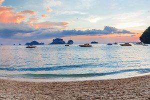 Popular travel tropical karst rocks perfect for climbing Phra Na