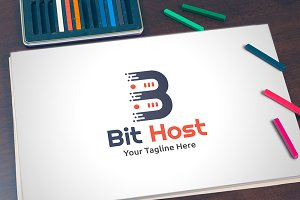 Bit Host - Logo Template
