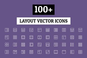 100+ Layout Vector Icons