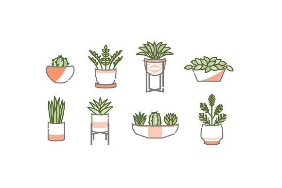 Houseplant Icon Set