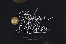 Stephen & Gillion - Signature Script by Sarid Ezra in Fonts