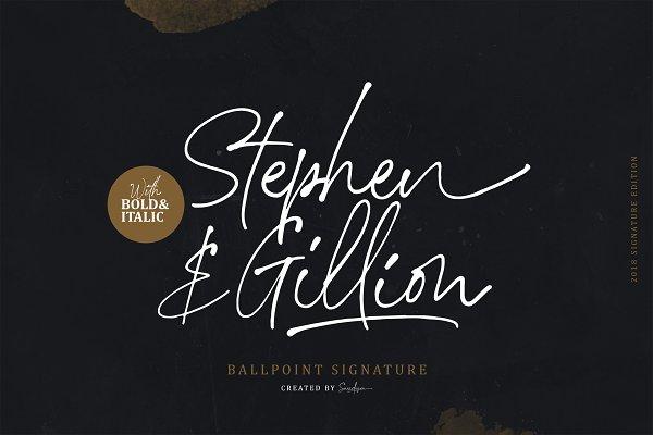 Script Fonts: Sarid Ezra - Stephen & Gillion - Signature Script