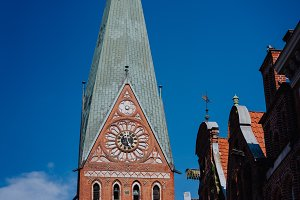 Tower of the St. Johannis church of Luneburg, Germany