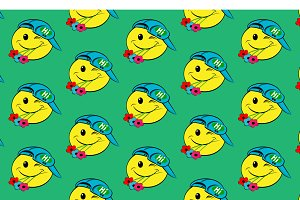 Hello - seamless pattern