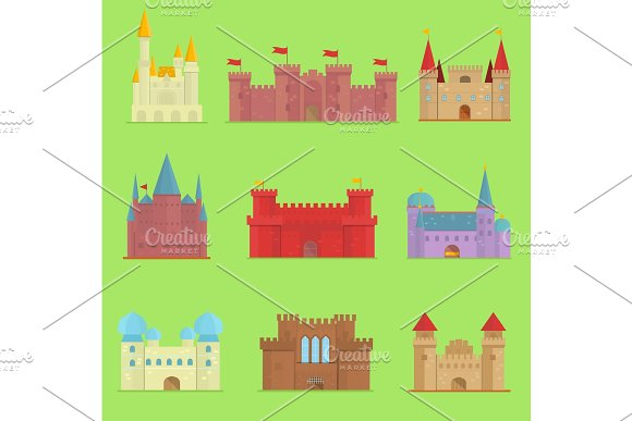 Cartoon Fairy Tale Vector Castle Tower Icon Cute Cartoon Architecture Illustration Fantasy House Fairytale Medieval Castle Kingstone Cartoon Castleworld Cartoon Stronghold Design Fable Isolated