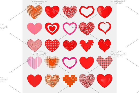 Red Hearts Sharp Simple Red Vector Icon Color Card Beautiful Celebrate Bright Emoticon Red-heart Symbols Love Heart Holiday Abstract Art Decoration Romance Shape Design Love Amour Valentine Symbols
