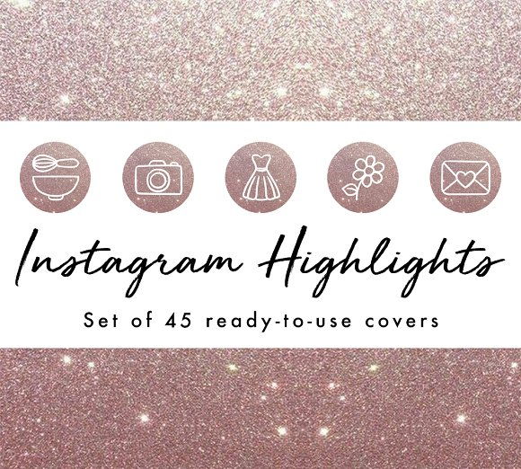 45 Instagram Story Highlight Covers in Instagram Templates