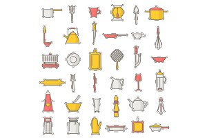 Kitchenware vector seamless pattern cookware for cooking and kitchen utensils or cutlery for kitchener backdrop illustration tableware in kitchenette wallpaper isolated on white background
