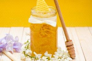Locust Honey Retro Jar with locust b