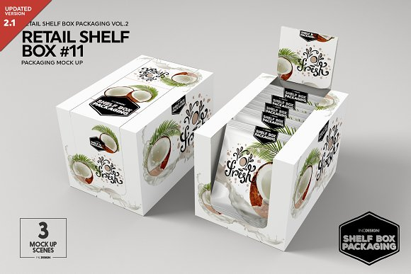 Free Retail Shelf Box 11 Packaging Mockup
