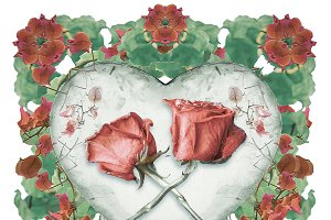 Love Ornament Isolated Artwork