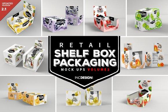 Download Retail Shelf Box Packaging MockUps2