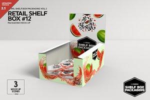 Retail Shelf Box 12 Packaging Mockup