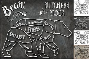 Bear Butcher Cuts Set 1