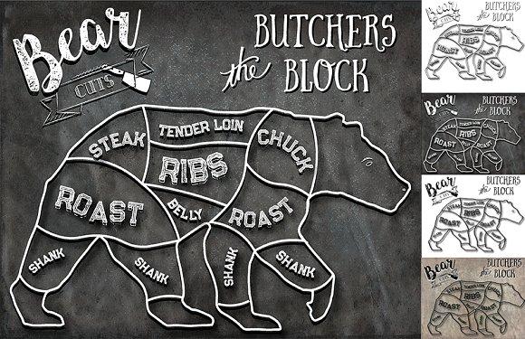 Bear Butcher Cuts Set 1